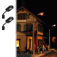 BUSCH 4132 échelle H0, 2 Lampes murales #neuf emballage d'origine#