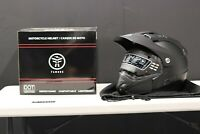 FAMOUS HELMETS ADVENTURE DUAL SPORT - DOT CERTIFIED SIZE: S- Small *Black