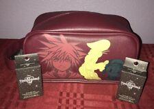 LOUNGEFLY DISNEY KINGDOM HEARTS DOPP BAG TOILETRY COSMETICS BAG & BLIND BOX PINS