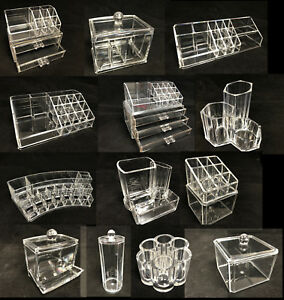 Clear Cosmetic Makeup Make Up Display Organizer Acrylic Case Box Jewelry Storage