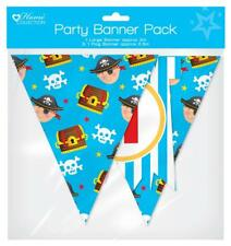Pirates Children's Birthday Party Banner Pack Boys Pirate Flag and Bunting Set