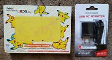 New Nintendo Pikachu 3ds XL System + AC Adapter Power Cable Bundle US Version