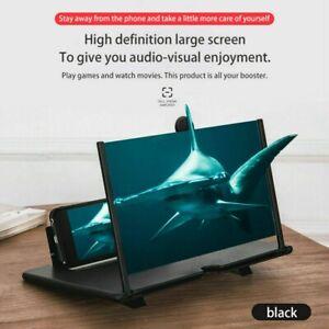 """Teléfono móvil de 12"""" pulgadas pantalla Lupa 3D Amplificador de vídeo HD Soporte"""