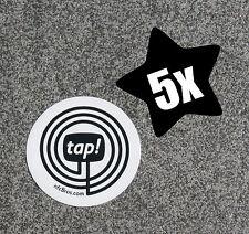 5 x NFC Tag weiß mit MIFARE Classic® Chip - 1k Sticker - nfcBros. tap!z