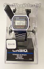 New Casio Men's A168WA Digital Wrist Watch Dress Stainless Band Quartz Metal