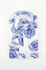 Giordano blue pattern long sleeve shirt size M RRP80 FR03