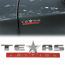 ABS TEXAS Edition Auto Emblem Badge Sticker Decal for Chevrolet Chevy Silver+Red