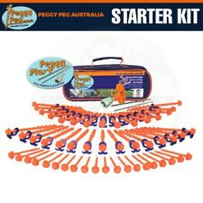 Peggy Peg 50pc Starter Kit - Fibreglass Screw Pegs Camping Tarp Tent Awning PP03