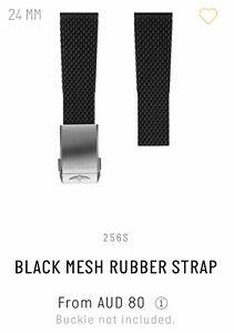 *BREITLING* BLACK MESH RUBBER STRAP ~ 256S - 24mm