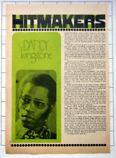 DANDY LIVINGSTONE Old Seventies Article Clipping