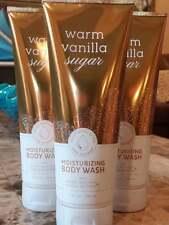 Bath & Body Works WARM VANILLA SUGAR Moisturizing Body Wash Shea Butter 10 oz