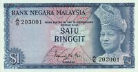 Vintage Banknote Malaysia 1 Ringgit Pick 1 1967 1972 Choice UNC US Seller
