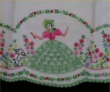 Vintage Belle Scotty Transfer PATTERN Pillowcases 40s Embroidery Project
