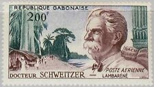 GABON GABUN 1960 154 C1 Dr Albert Schweitzer Theologe Musiker Arzt Doctor MNH