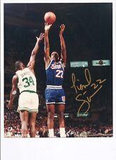 LIONEL SIMMONS Signed/Auto.Basketball  Photo LA SALLE SACREMENTO KINGS