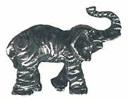4 wholesale lead free pewter elephant figurines E5005