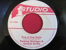 REGGAE 45 - RANKING MICHIGAN & GENERAL SMILE - RUB A DUB STYLE- STUDIO 1 CD-1034