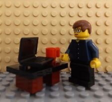 LEGO Brand New Mini Figure Man Laptop Mug Office Worker Desk City Professional