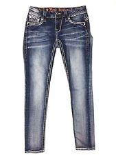 Rock & Revival Barby Ankle Skinny Jeans Size 26 Embellished Medal Studded (U)