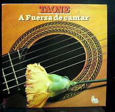Taone A Fuerza De Cantar LP VG+ Discos Tipico Stereo 1987 Private Latin RARE
