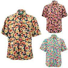 Corte Normal Camisa Manga Corta Loud Originals Floral Pétalos Estampado Verano