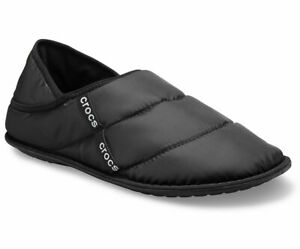 Crocs Neo Puff Lined Slippers Mens Womens Unisex Nylon Convertible Fold Down