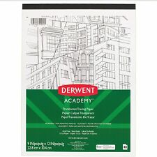 """Derwent Academy Tracing Paper Pad Translucent 40 Sheets 9"""" x 12"""" (54992)"""