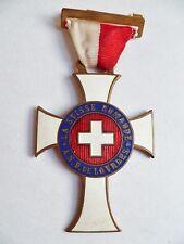 Insigne Religieux Badge Médaille SUISSE ROMANDE LOURDES ORIGINAL CATHOLIC MEDAL