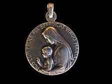 RAR Silber Ältere Pilger Medaille Jungfrau Maria Religiöse Volkskunst Anhänger