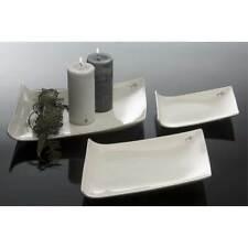 Porzellanplatte, Kerzenteller TRAPEZ 25x18cm weiß Porzellan Sandra Rich