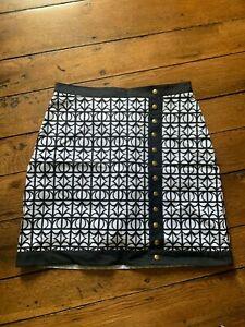 Fairway Fox Women's Golf Staci Skort Black Lattice Size 0New With Tags