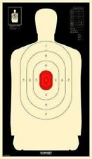 B34 Silhouette Targets - Reverse With Red Center Targets, Pack of 100