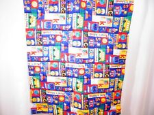 Vintage Handmade Quilt Wall Hanging Children's Blanket 55 x 40 Red ABC School