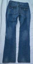 GUESS JEANS Womens SZ 25 Doheny Boot Low Rise Jeans With Flaps DENIM 26 X 31.5