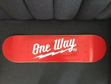 """One Way Board Shop Skateboard Deck 8"""" Red With White Spell Out"""