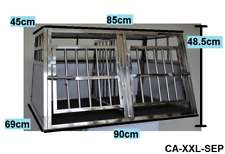 Hundetransportbox Hundebox DOPPELBOX +Komfortmatte m.Separtion (CA-XXL-SEP)