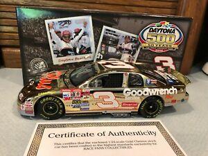 Action 1998 Dale Earnhardt GM Daytona 500 Win 1/24 Gold Chrome