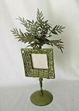 Beautiful wicker weave picture frame tropical ornate metal tree! New gift idea!