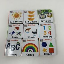 Lot 9 Eric Carle Board Books Small World Look Find Words Numbers Colors Shapes
