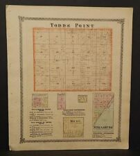 Illinois Shelby County Map Todds Point Townships 1875  Z7#12