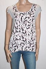 TARGET Brand Grey Floral Contrast Sleeveless Top Size 12-M BNWT #TE37