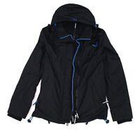 Superdry Mens Windcheater Jacket  Black Small S Ripstop Hooded Full-Zip $99 190