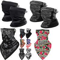 Neck Gaiter Breathable Face Cover Lightweight Cooling Scarf Bandana Headwear Hat