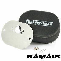 RAMAIR Carb Air Filters With Baseplate SU HIF3B 1.5in (Mini Offset) 40mm Bolt On