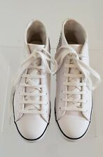 Converse All Star Women's White Leather Mid Top Sneakers Shoes in Size AU 9/40