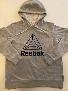 Boy's Reebok Pullover Hooded Sweat Jacket Gray Size M