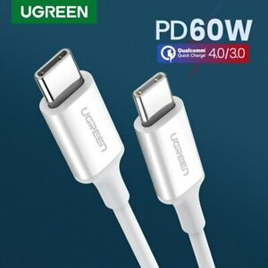 Ugreen USB Type C-C Charging Cable Fast Charger Power Cord Fr Samsung S9 S8 LG