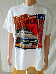 Vintage Rusty Wallace Black Thunder, Miller, Thunderbird, SS Tee Shirt NASCAR