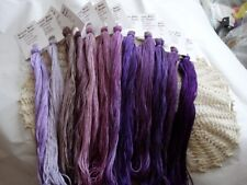 Purple Passion Collection ,hand dyed floss Gift Boxed! 12 (20 yd skeins