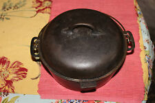 Vintage Cast Iron Lidded Cooking Cauldron Dutch Oven W/Handle-#8-Country Decor